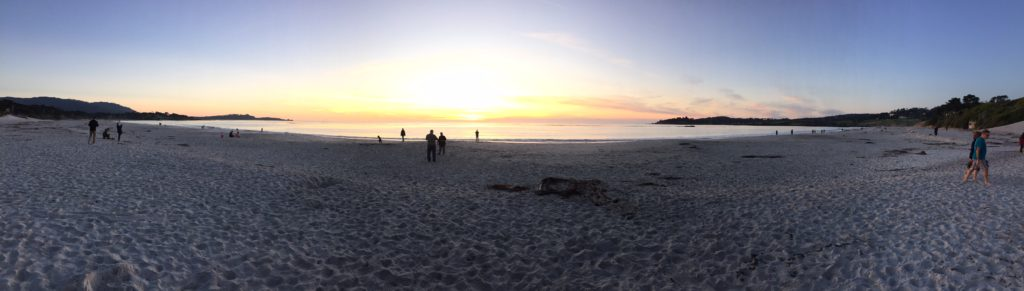 Carmel Beach at Sunset
